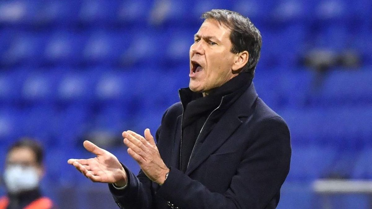 Rudi Garcia lors de Lyon - Strasbourg en Ligue 1 le 6 février 2021