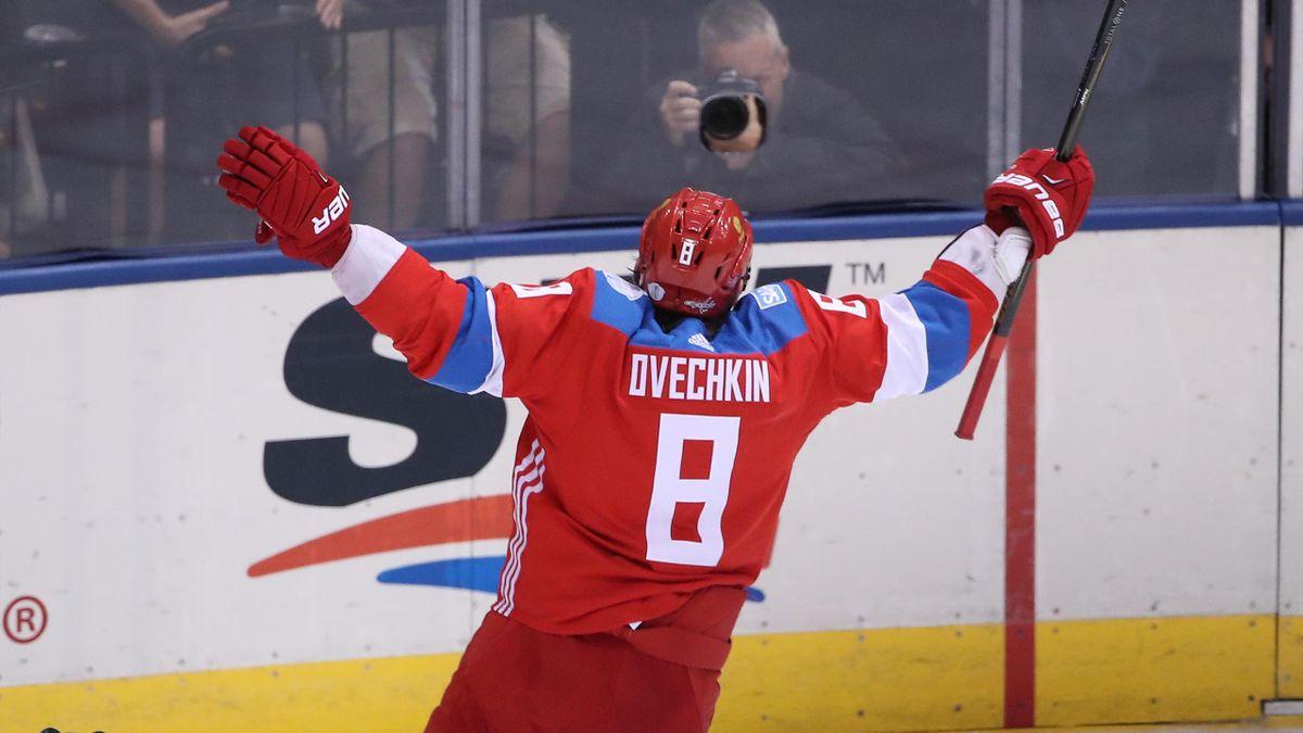 NHL-Superstar Owetschkin feiert Russlands Tor