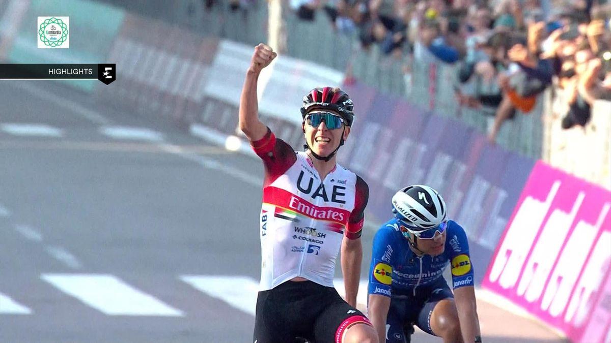 Ronde van Lombardije   Tadej Pogacar wint tweede monument van het seizoen