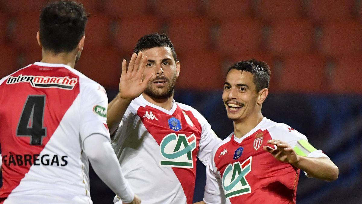 Kevin Volland (mitte) und die AS Monaco stehen im Pokalfinale