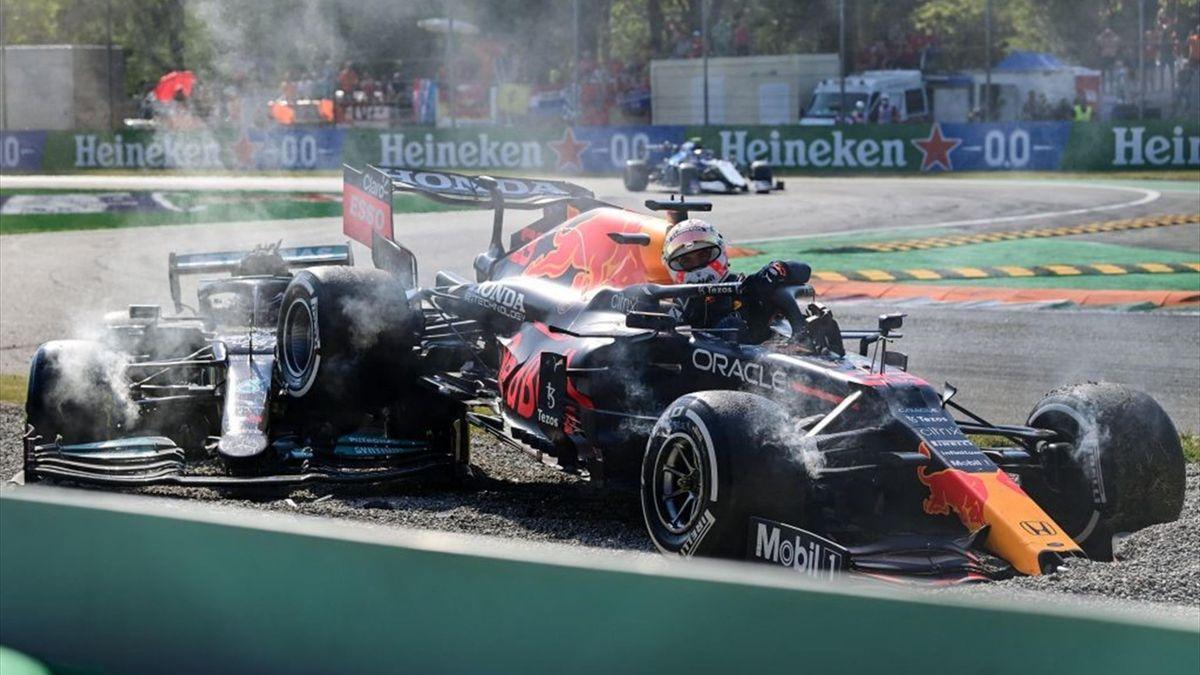 Max Verstappen (Red Bull), Lewis Hamilton (Mercedes) - GP of Italy 2021