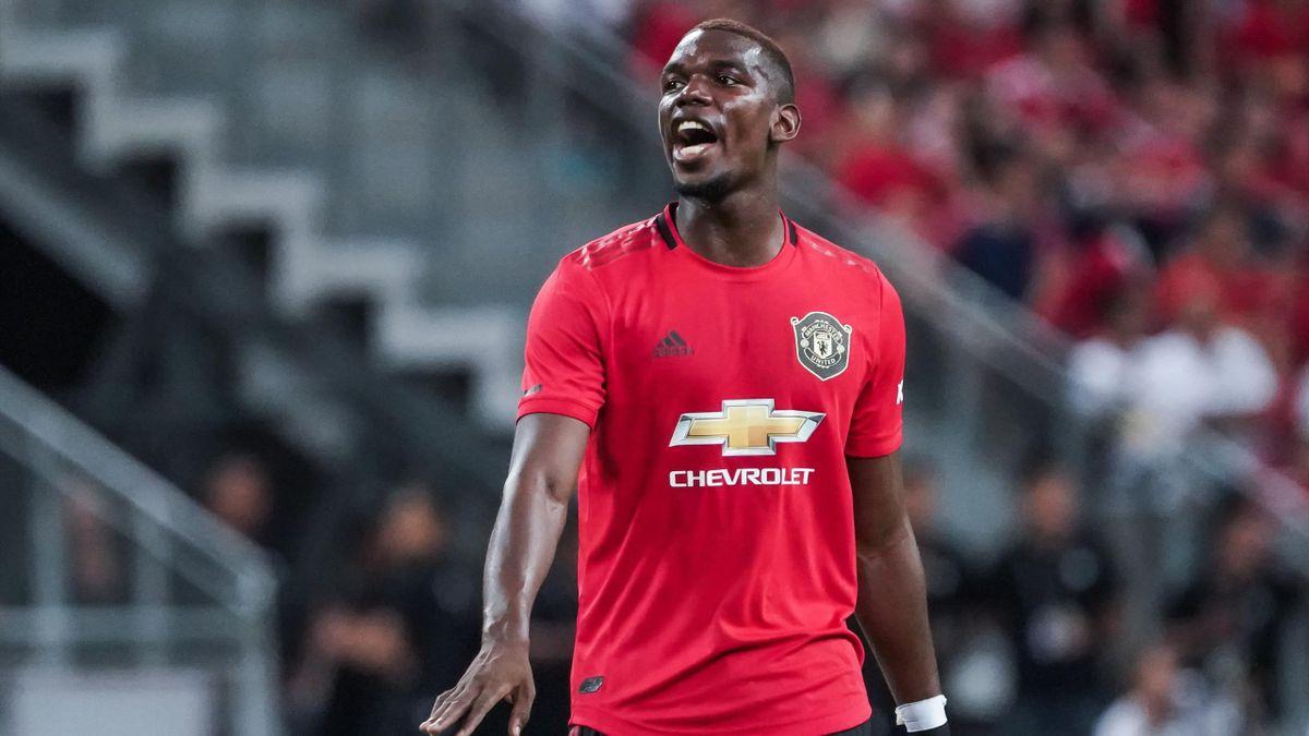 Paul Pogba lors de la rencontre Manchester United-Inter