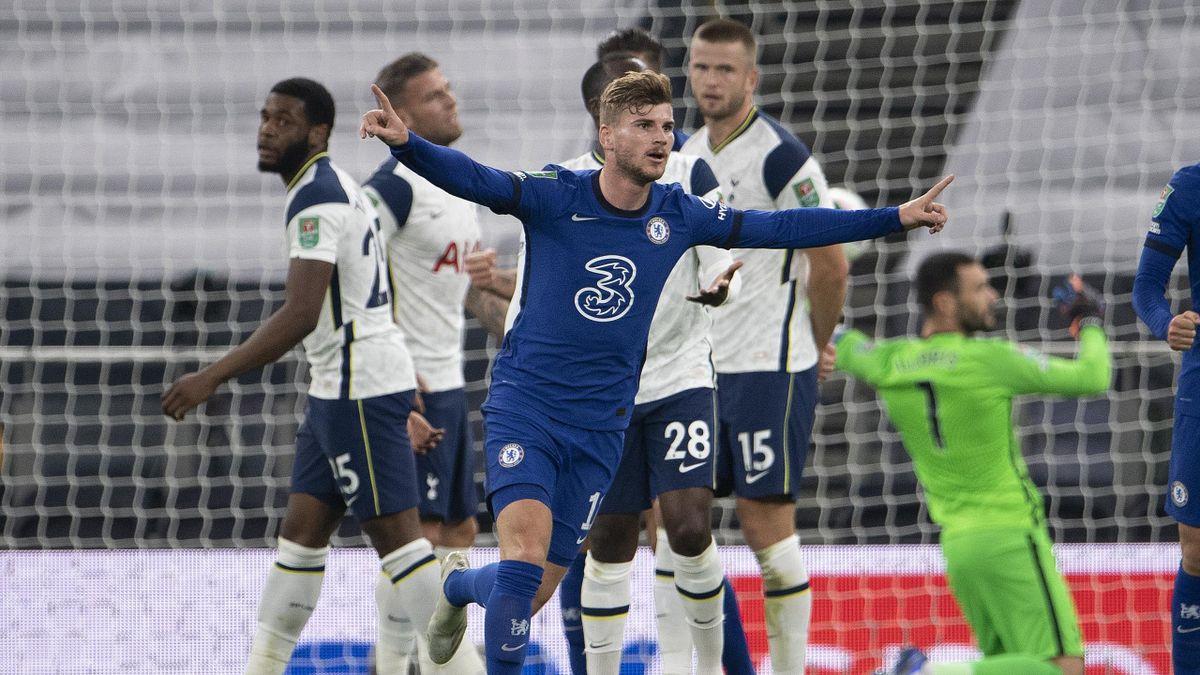 Timo Werner a marcat cu Tottenham, dar Chelsea a pierdut la penalty-uri