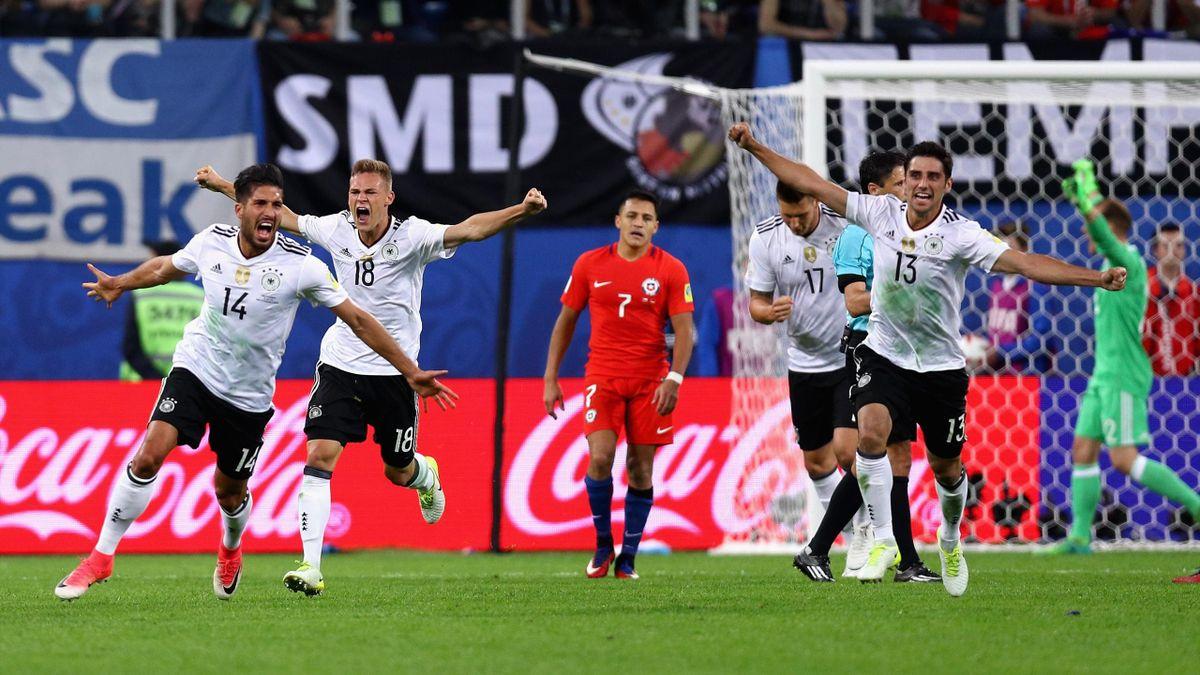 Jubel beim deutschen Team im Finale des Confed Cup