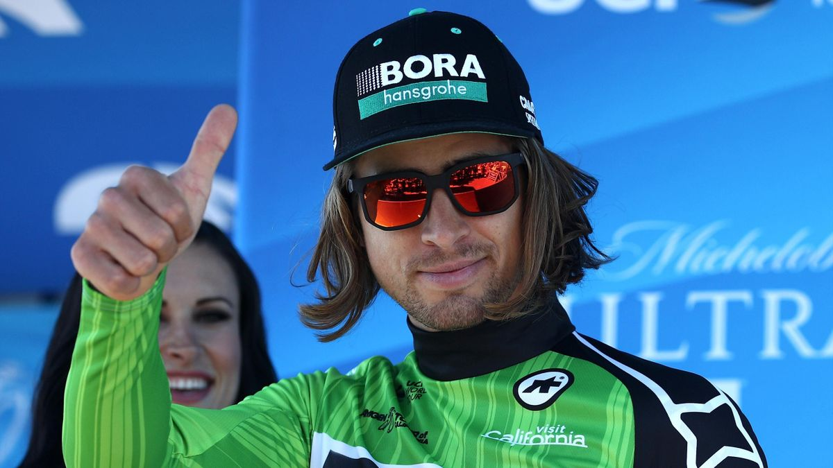 Peter Sagan of Slovakia riding for Bora-Hansgrohe poses