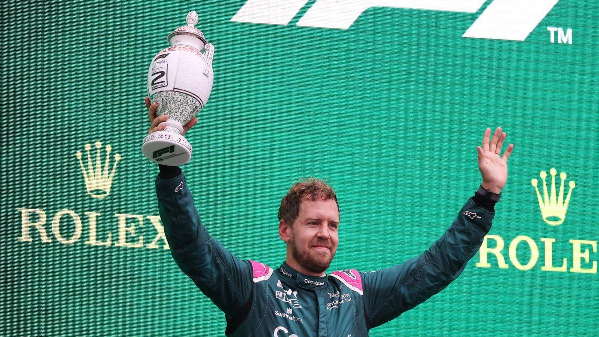 Sebastian Vettel fuhr in Ungarn aufs Podest