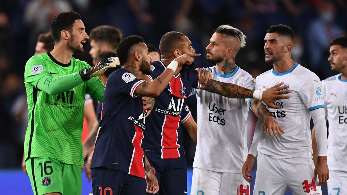 Five Red Cards Including Neymar In Last Minute As Psg Lose To Marseille Eurosport