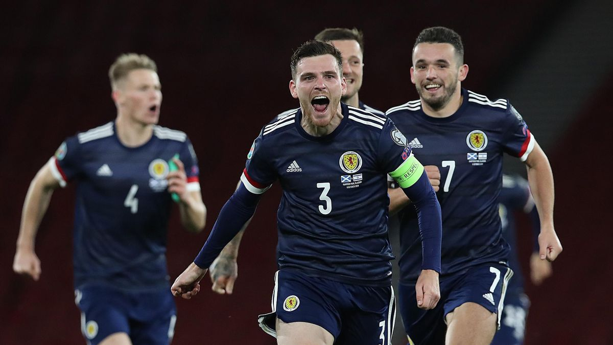 Andy Robertson of Scotland celebrates