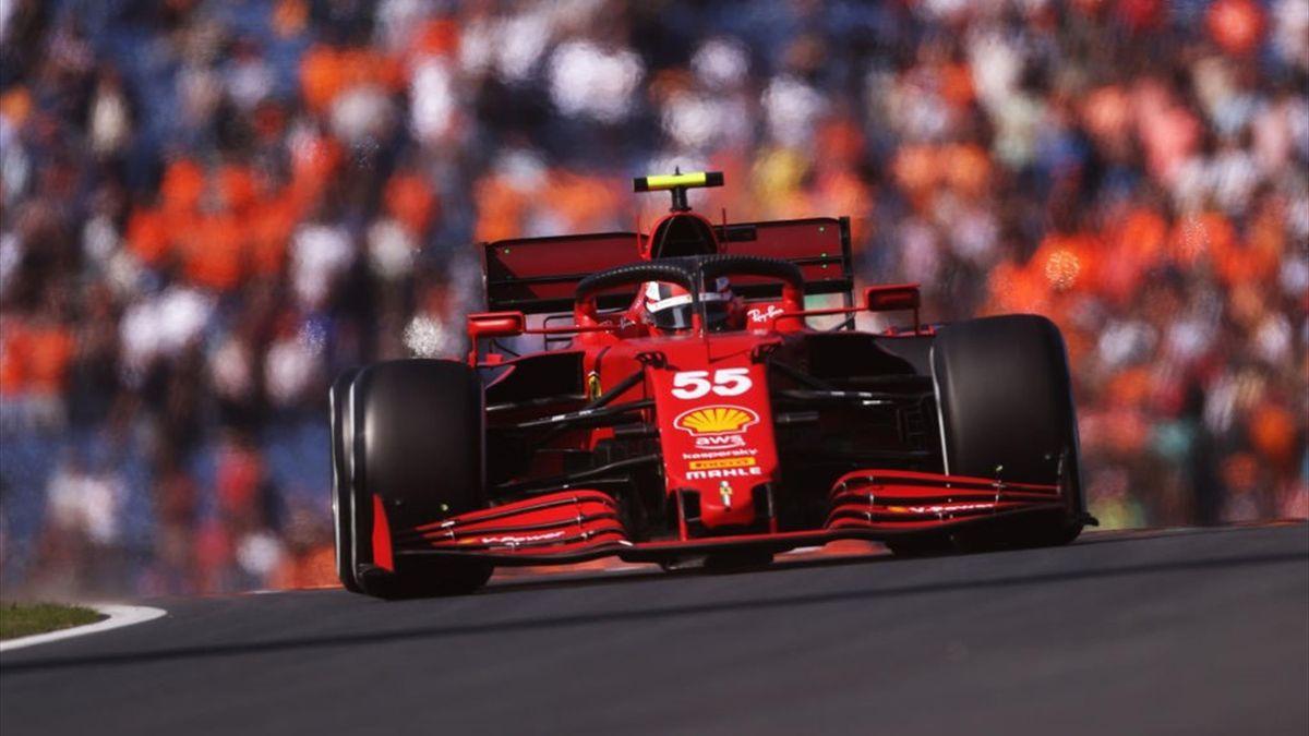 La Ferrari di Carlos Sainz - Libere 1 GP d'Olanda (F1, Mondiale 2021)