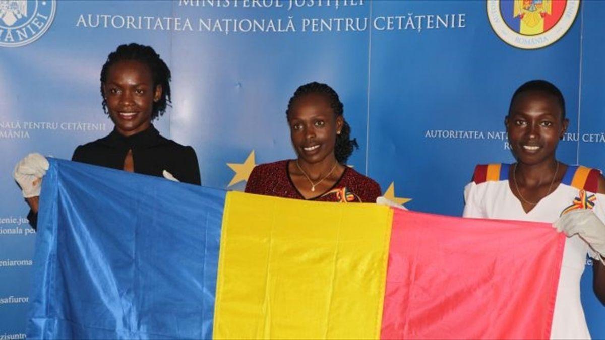 Joan Chelimo, Stella Ruto și Delvine Meringor  (FRA)