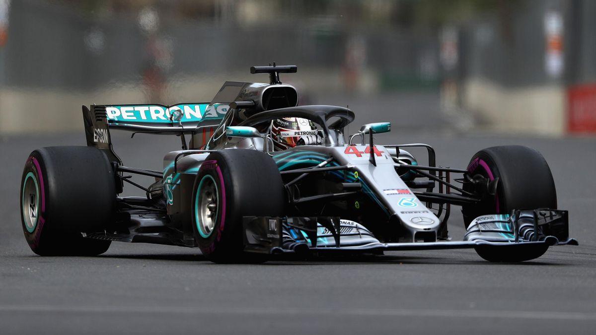 Lewis Hamilton (Mercedes) à Bakou