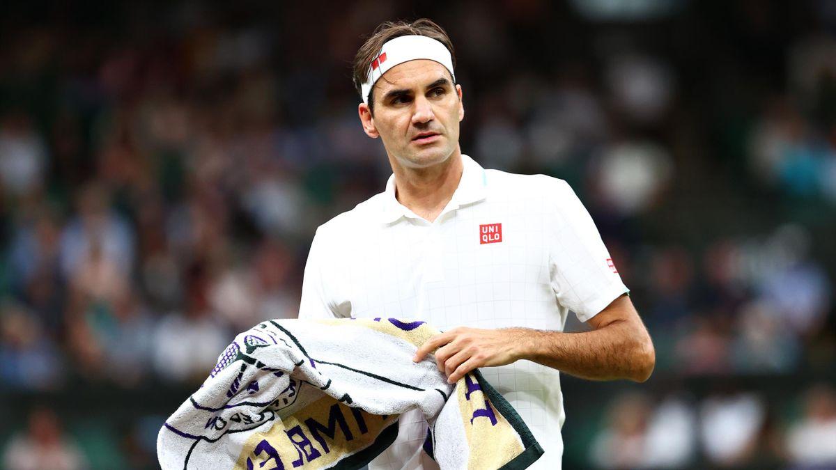 Roger Federer in Wimbledon im Einsatz
