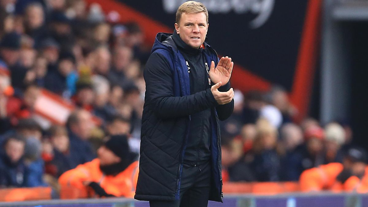 Bournemouth manager Eddie Howe. (PA)