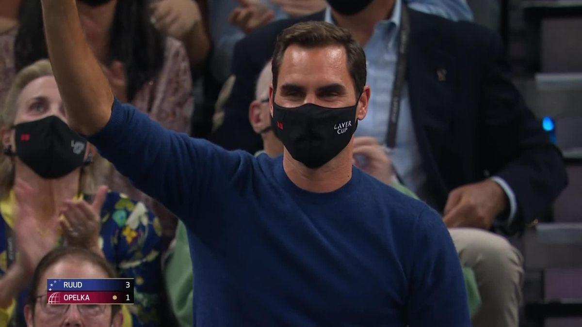 Стоячие овации Федереру на Кубке Лэйвера. Как трогательно!