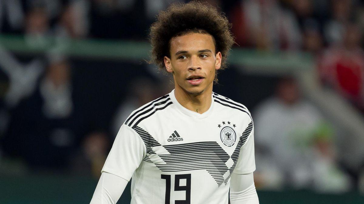Leroy Sané beim Freundschaftsspiel Deutschland-Serben 2021