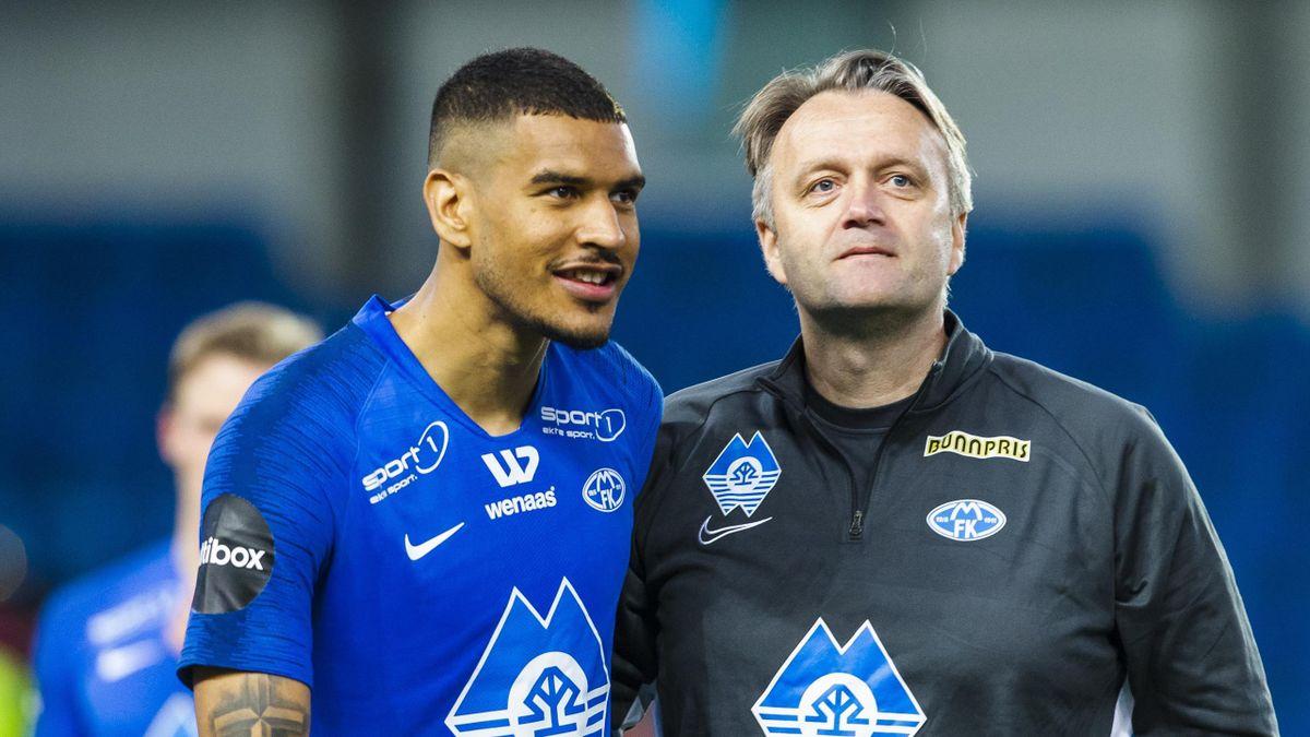 Moldes trener Erling Moe og Ohi Omoijuanfo