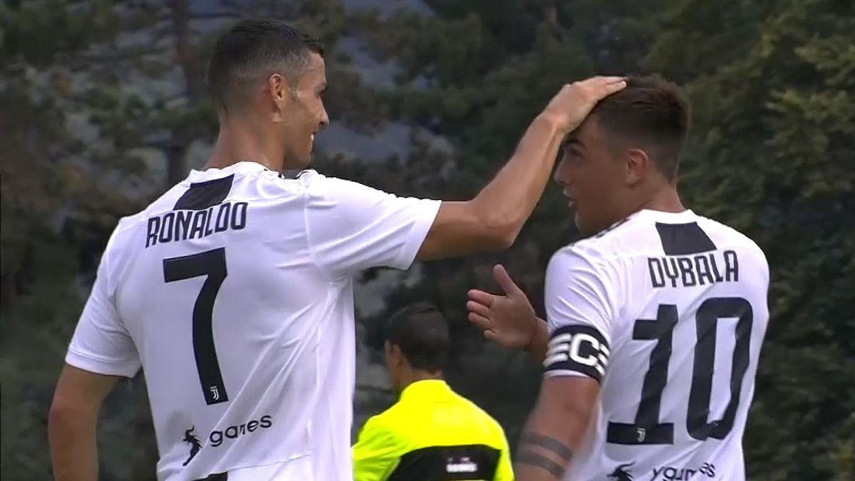 Ronaldo first goal with Juventus (SNTV) dybala