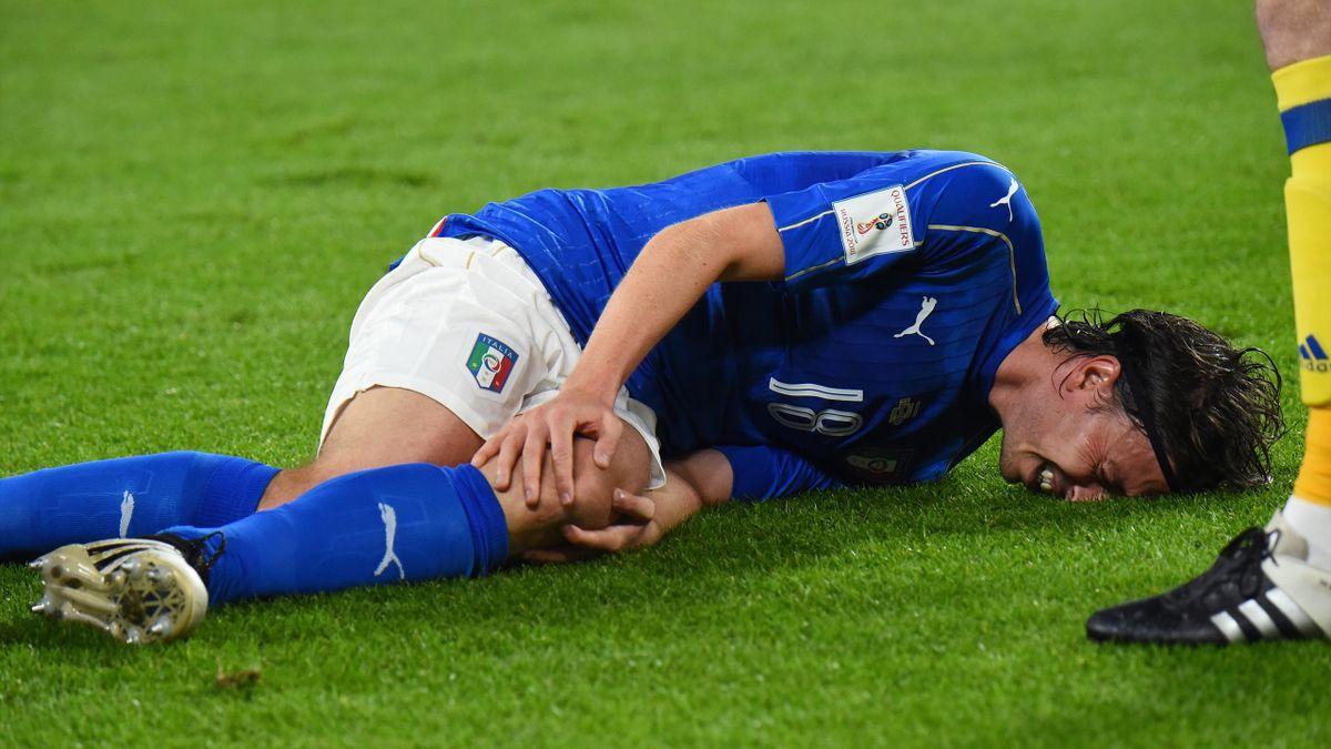 Riccardo Montolivo, gravement blessé contre l'Espagne