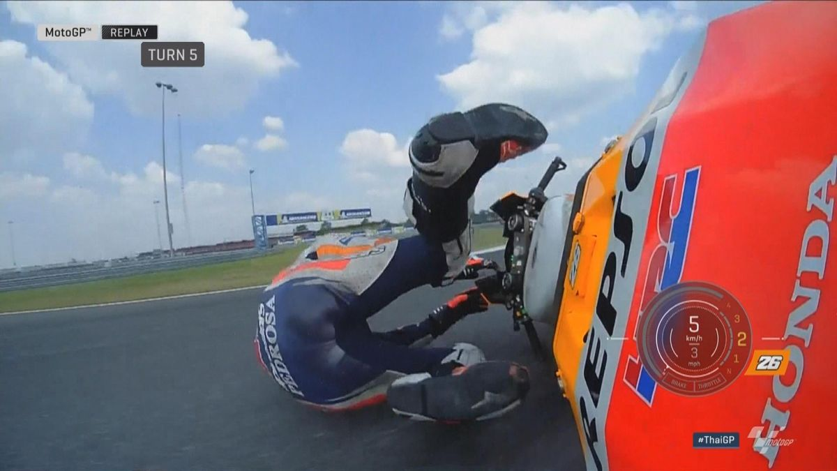 GP Thailand: Moto GP - crash Pedrosa