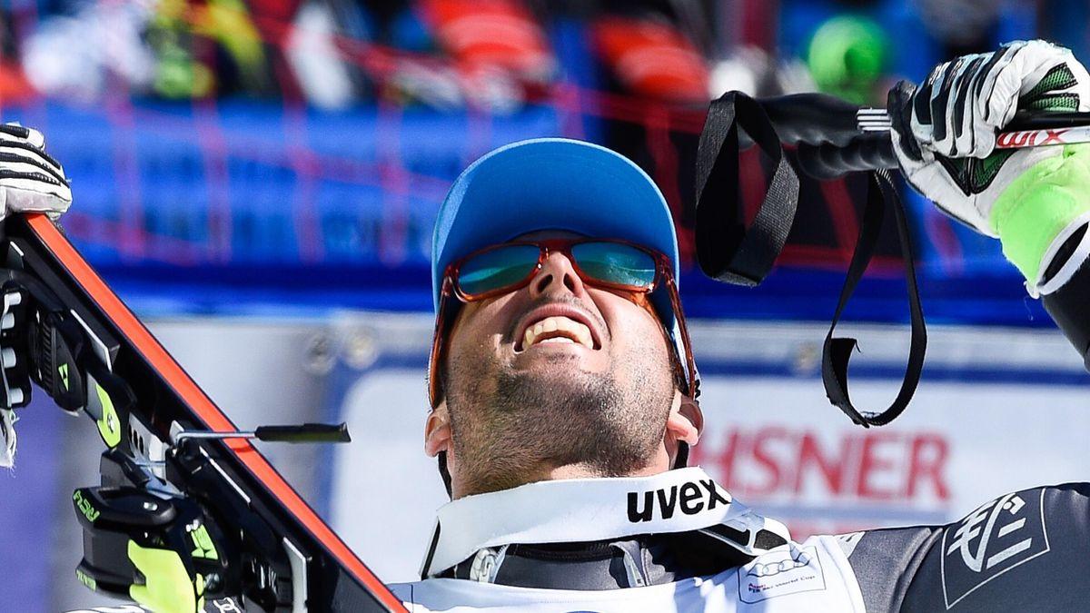 Thomas Fanara après sa victoire en géant à St-Moritz