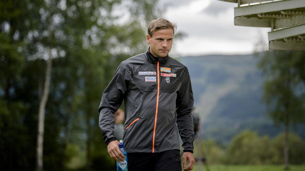 Niklas Dyrhaug på treningssamling i Meråker.