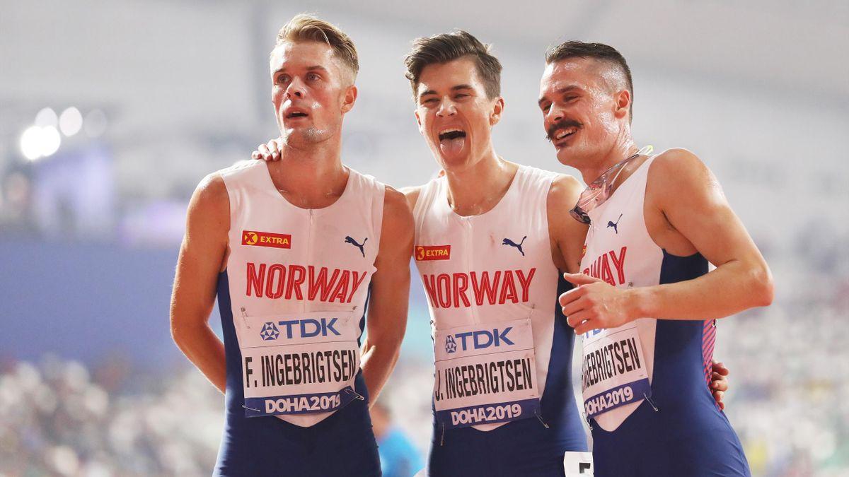 Filip Ingebrigtsen, Jakob Ingebrigtsen og Henrik Ingebrigtsen