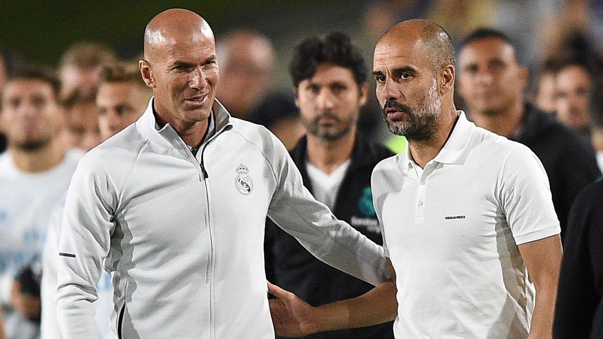 Pep Guardiola Zinedine Zidane