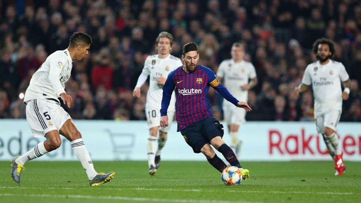 Messi, Varane - Barcelona-Real Madrid - Copa del Rey 2018/2019 - Getty Images