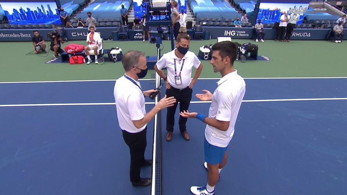 Novak Djokovic Sad And Empty After Us Open Disqualification Eurosport