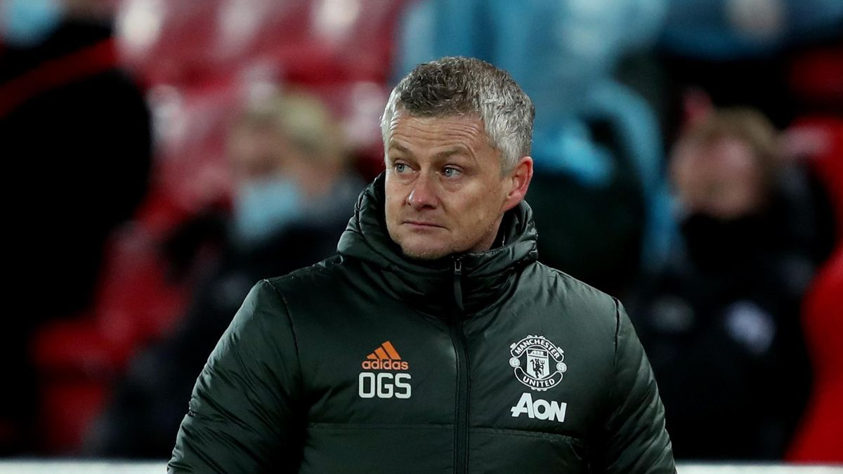 Manchester United manager Ole Gunnar Solskjaer during the Premier League match between Liverpool and Manchester United at Anfield on January 17, 2021 in Liverpool, United Kingdom.