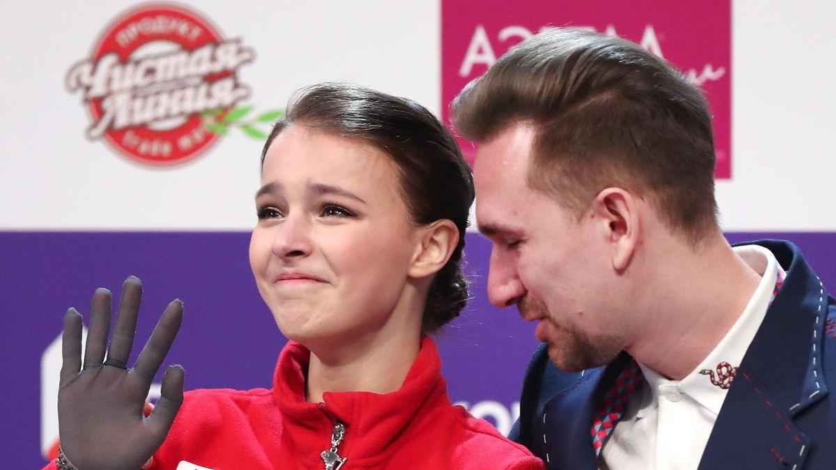 Анна Щербакова и хореограф Даниил Глейхенгауз