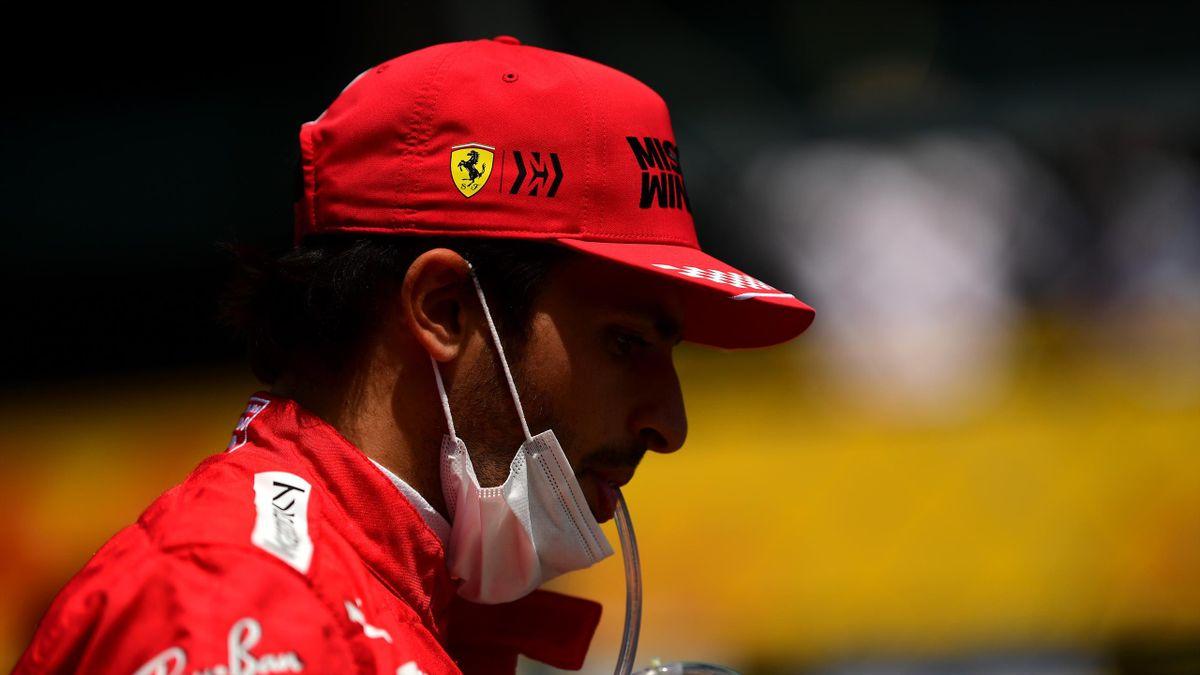 Carlos Sainz amareggiato a Portimao, Getty Images