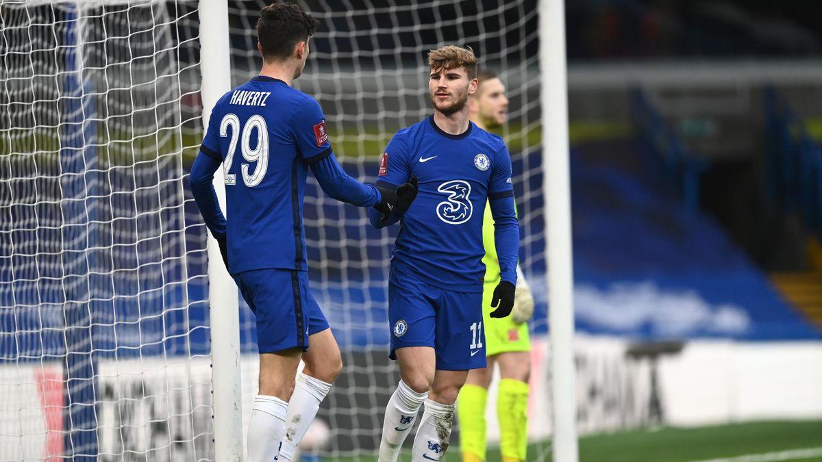 Timo Werner (rechts) und Kai Havertz wechselten im Sommer zum FC Chelsea
