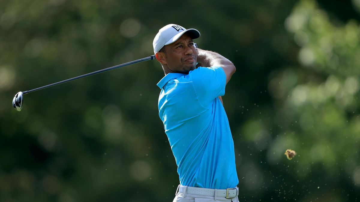 Golf-Superstar Tiger Woods beim Memorial in Dublin (Ohio)