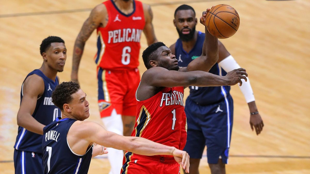 Zion Williamson, New Orleans Pelicans-Dallas Mavericks