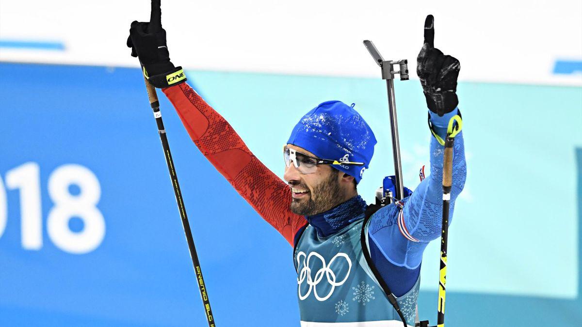 Martin Fourcade après son titre de la mass start à Pyeongchang