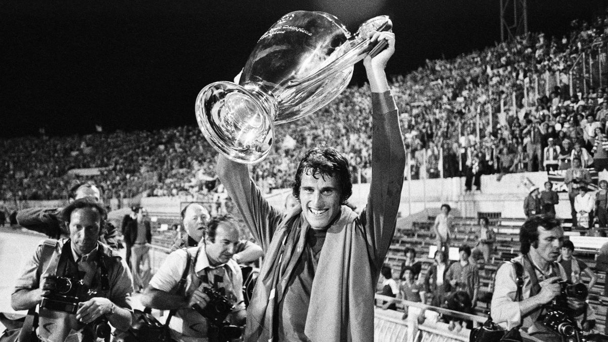 Ray Clemence after winning the European Cup Final in 1977