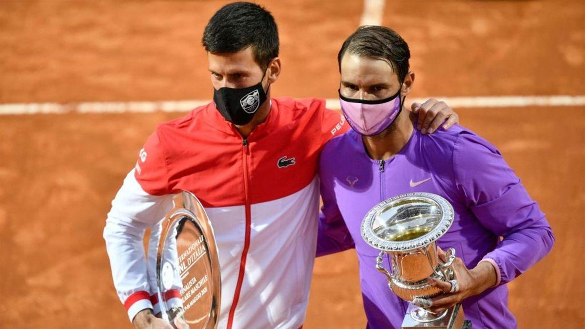 Novak Djokovic e Rafael Nadal - Internazionali d'Italia 2021