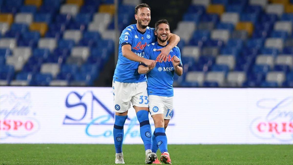 Amir Rrahmani, Dries Mertens - Napoli-Benevento Serie A 2020-21
