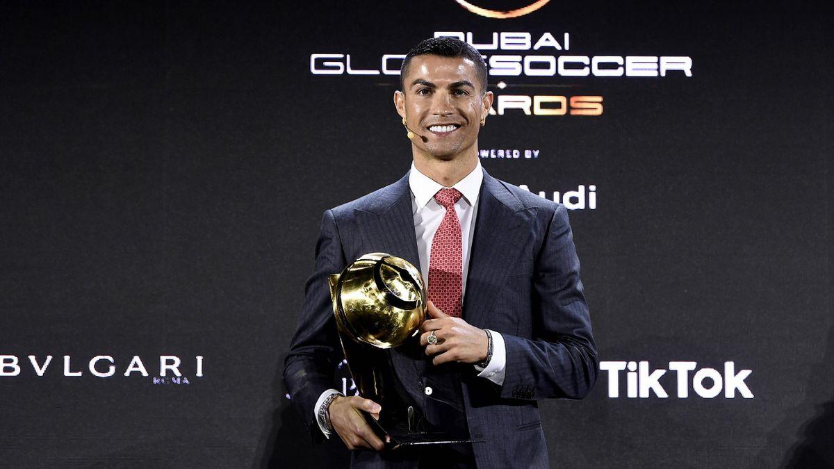 Cristiano Ronaldo premiato al Globe Soccer Awards 2020 come miglior calciatore del secolo