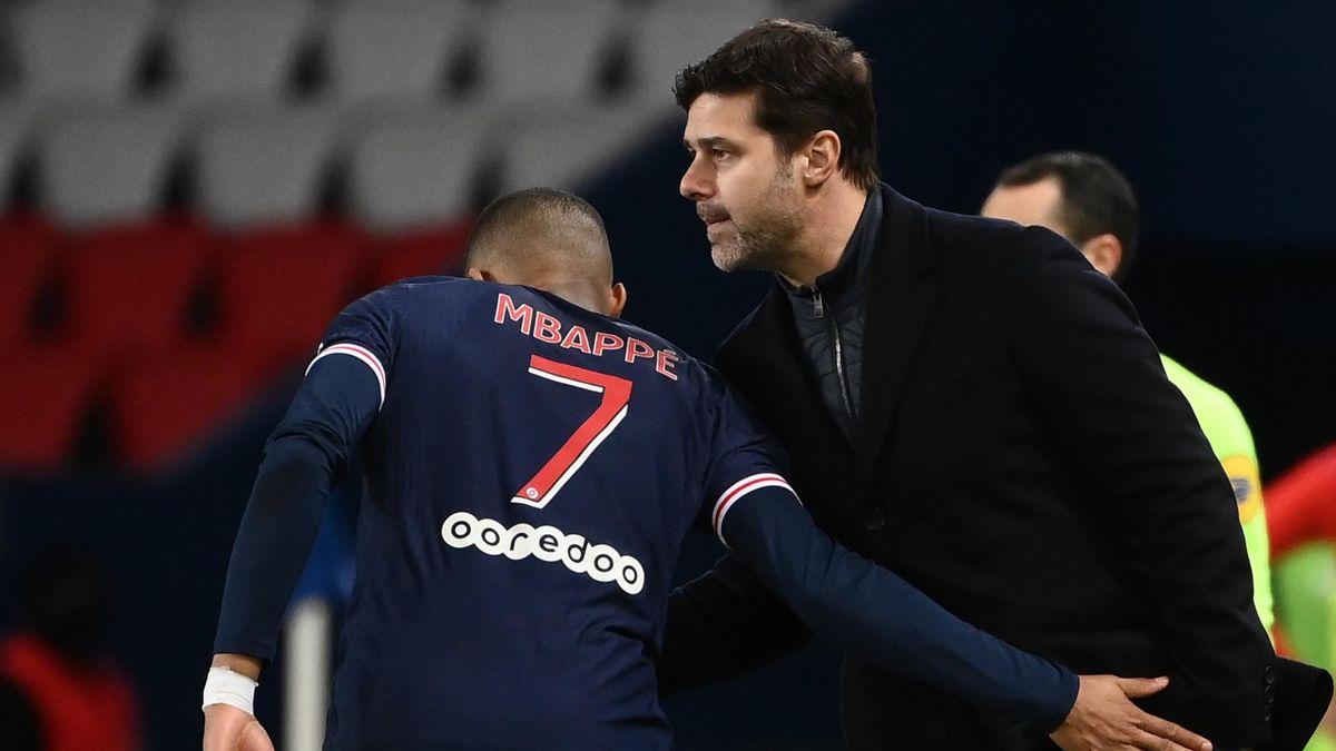 Kylian Mbappé et Mauricio Pochettino (PSG)