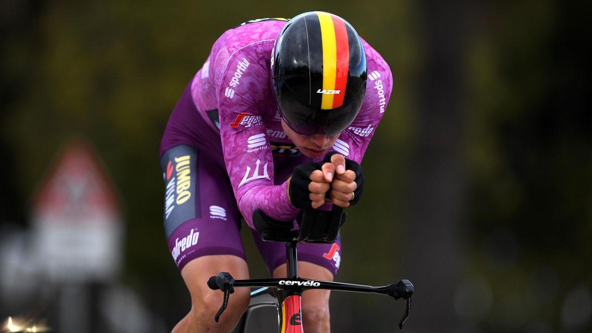 Wout van Aert vince la cronometro della 7a tappa della Tirreno-Adriatico 2020-21