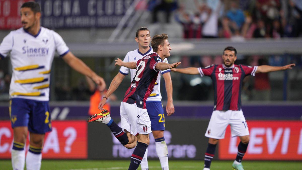 Mattias Svanberg esulta dopo il gol contro il Verona