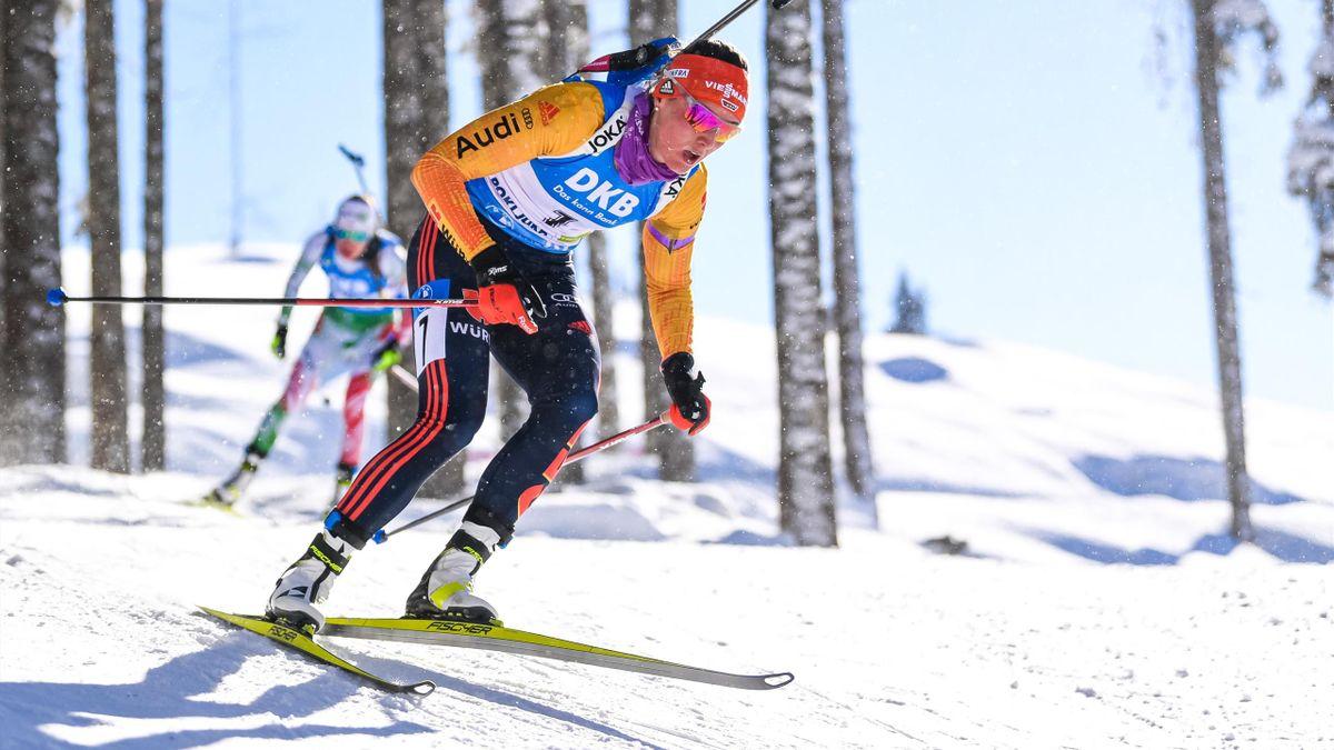 Denise Herrmann bei der Biathlon-WM auf der Pokljuka