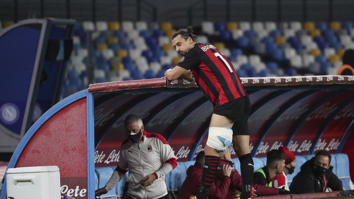 Zlatan Ibrahimovic ko a Napoli