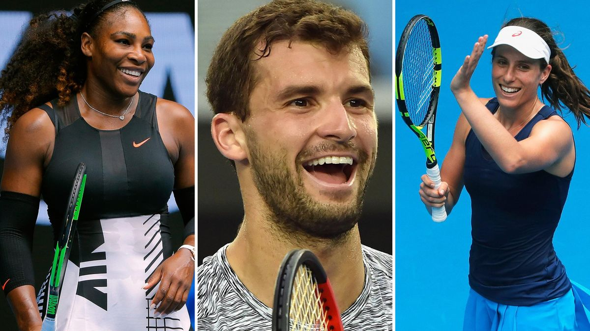 Serena Williams, Grigor Dimitrov and Jo Konta