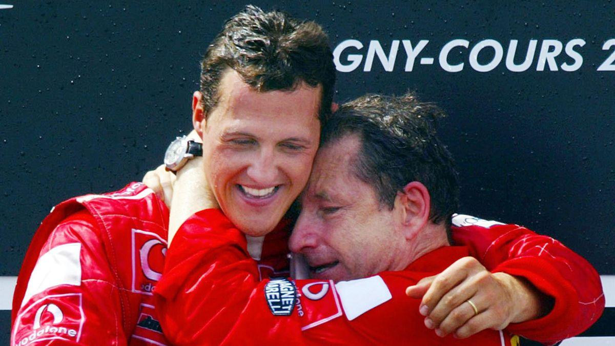 Michael Schumacher (l.) und Jean Todt errangen gemeinsam fünf Fahrer-WM-Titel und fünf Konstrukteurs-Titel