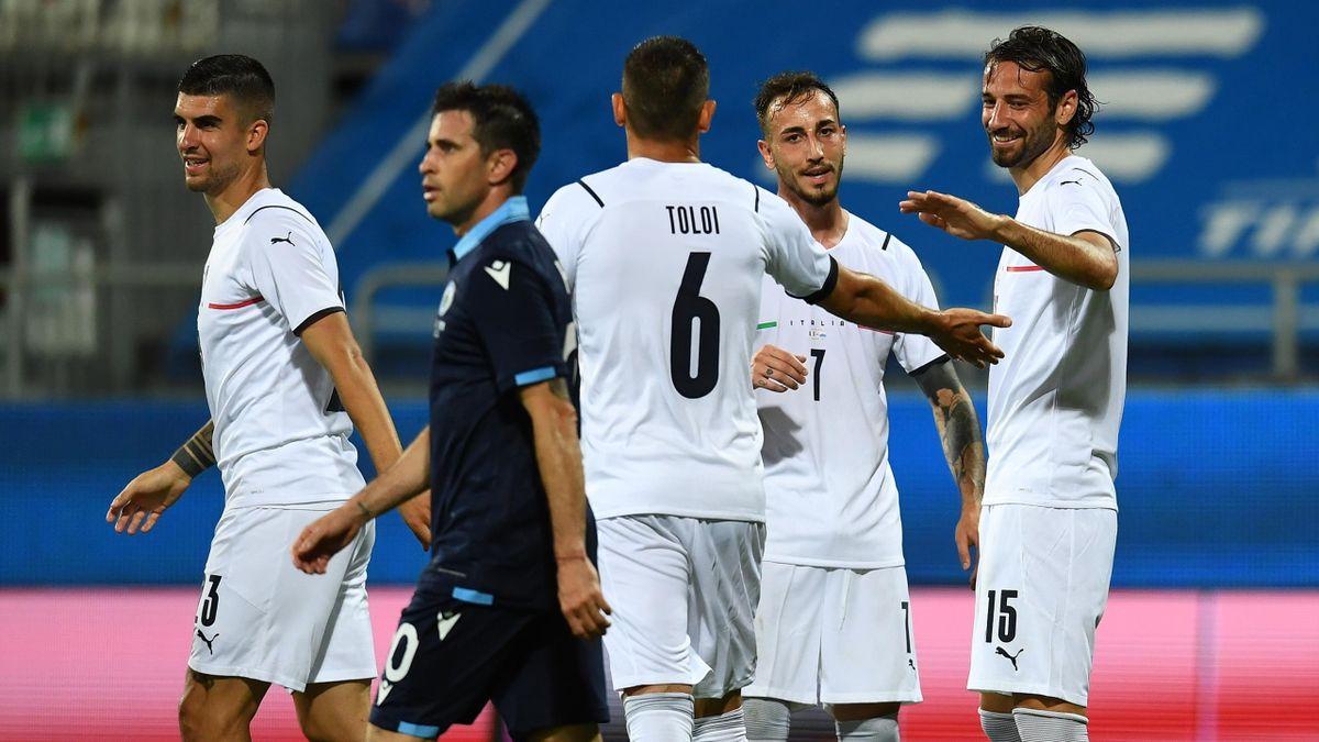 Italien bejubelt den Kantersieg gegen San Marino