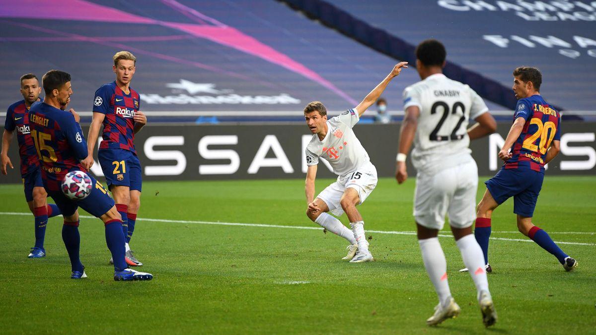 Thomas Müller a fost omul meciului Barcelona - Bayern 2-8