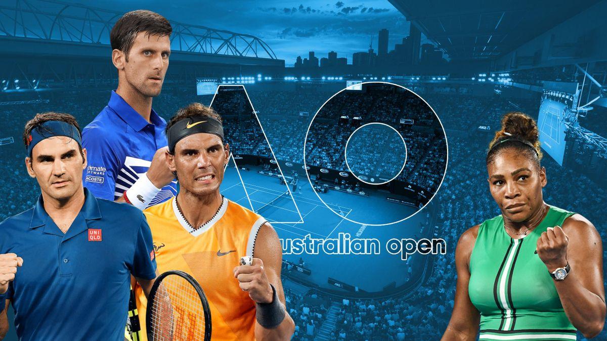 Australian Open 2020 - Nadal, Djokovic, Federer, Williams